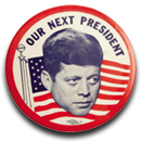 JFK Campaign Pin